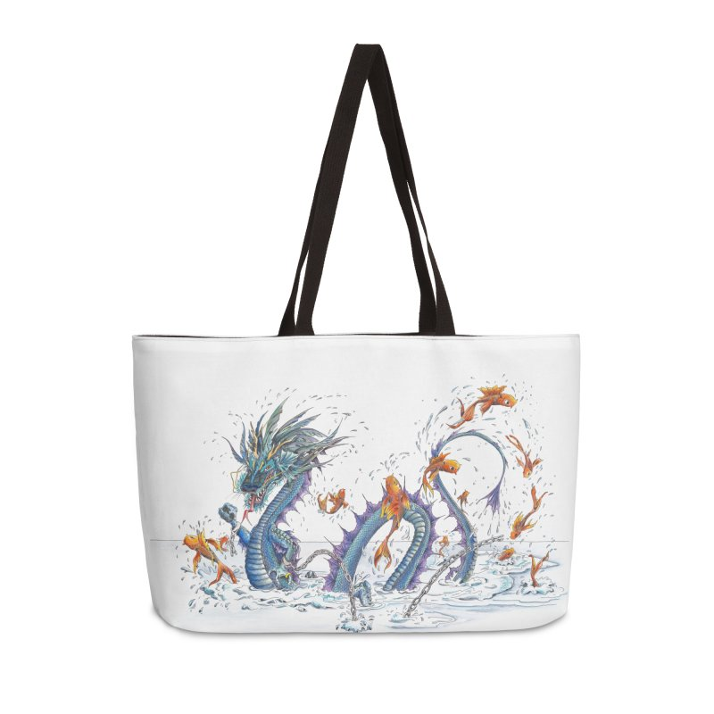 Water Dragon Accessories Weekender Bag Bag by mybadart's Artist Shop
