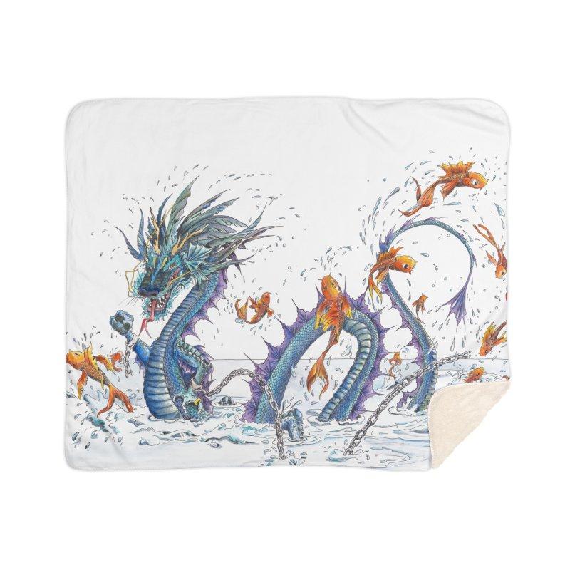 Water Dragon Home Sherpa Blanket Blanket by mybadart's Artist Shop