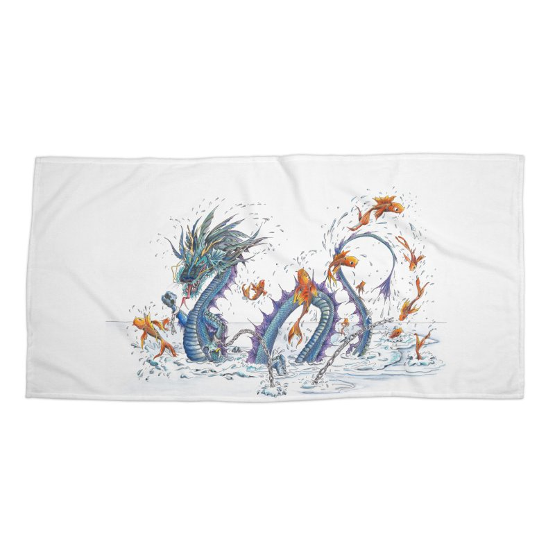 Water Dragon Accessories Beach Towel by mybadart's Artist Shop
