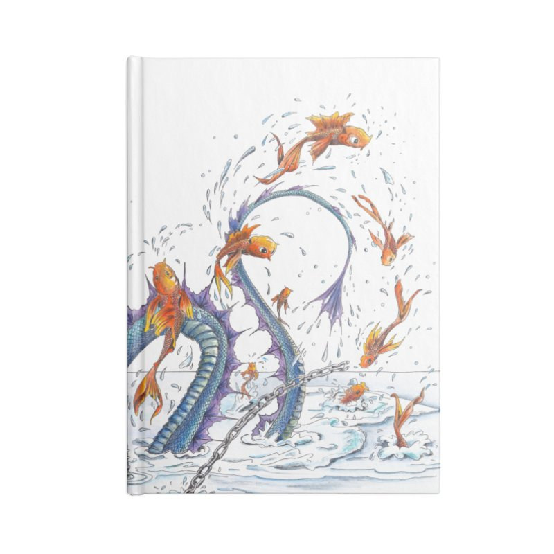 Water Dragon Accessories Lined Journal Notebook by mybadart's Artist Shop