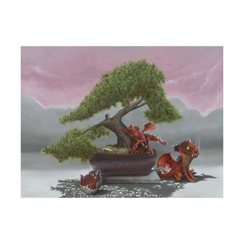 Baby Dragons and Bonsai Home Framed Fine Art Print by mybadart's Artist Shop