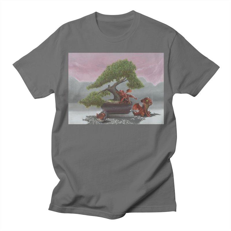 Baby Dragons and Bonsai Men's Regular T-Shirt by mybadart's Artist Shop