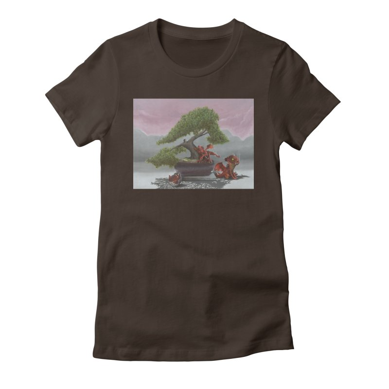 Baby Dragons and Bonsai Women's Fitted T-Shirt by mybadart's Artist Shop