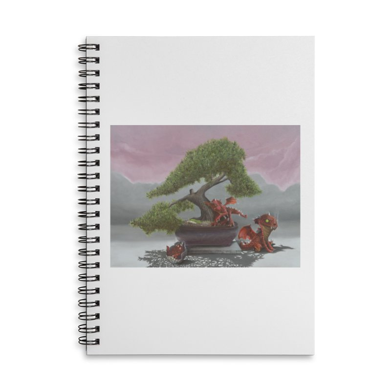 Baby Dragons and Bonsai Accessories Lined Spiral Notebook by mybadart's Artist Shop