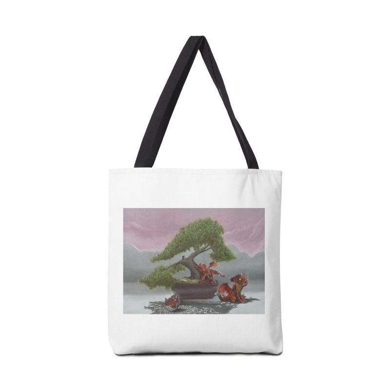 Baby Dragons and Bonsai Accessories Bag by mybadart's Artist Shop