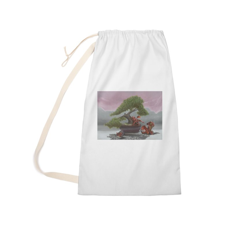 Baby Dragons and Bonsai Accessories Laundry Bag Bag by mybadart's Artist Shop