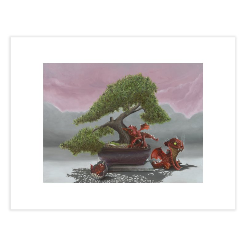 Baby Dragons and Bonsai Home Fine Art Print by mybadart's Artist Shop