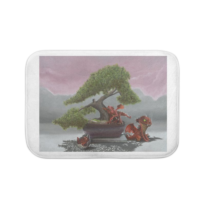 Baby Dragons and Bonsai Home Bath Mat by mybadart's Artist Shop