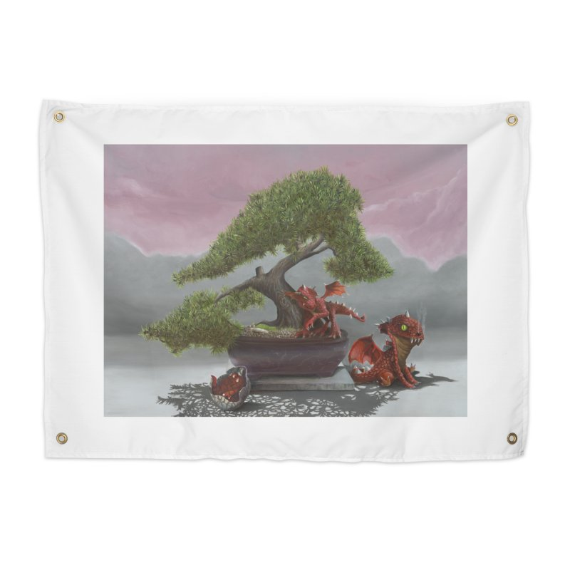 Baby Dragons and Bonsai Home Tapestry by mybadart's Artist Shop