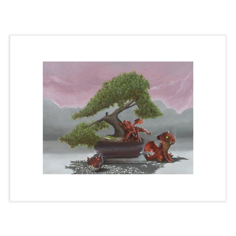 Baby Dragons and Bonsai Home Fine Art Print by mybadart's Artist Shop