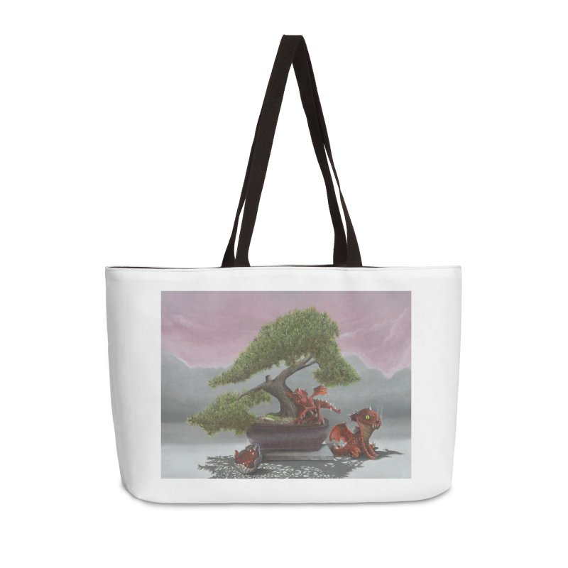 Baby Dragons and Bonsai Accessories Weekender Bag Bag by mybadart's Artist Shop
