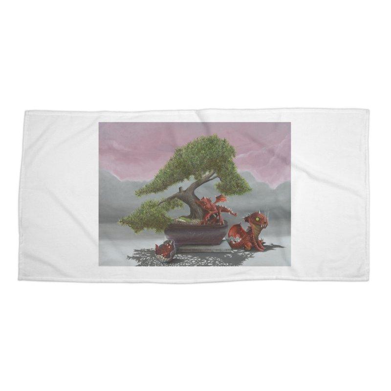 Baby Dragons and Bonsai Accessories Beach Towel by mybadart's Artist Shop
