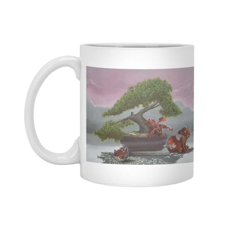 Baby Dragons and Bonsai Accessories Standard Mug by mybadart's Artist Shop