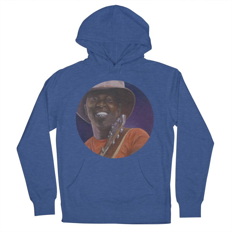 Ali Farka Toure Men's French Terry Pullover Hoody by mybadart's Artist Shop
