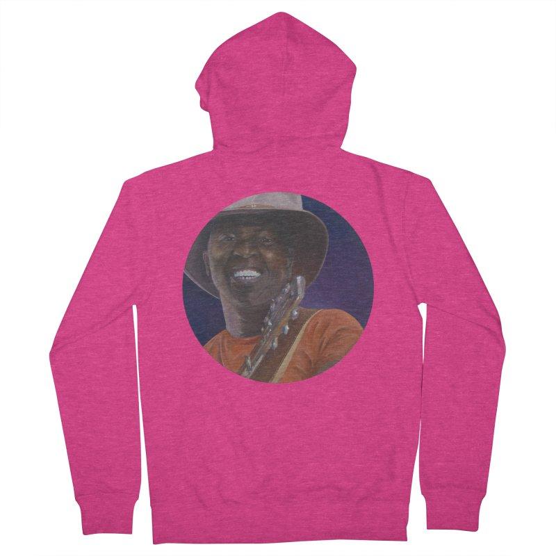 Ali Farka Toure Women's French Terry Zip-Up Hoody by mybadart's Artist Shop