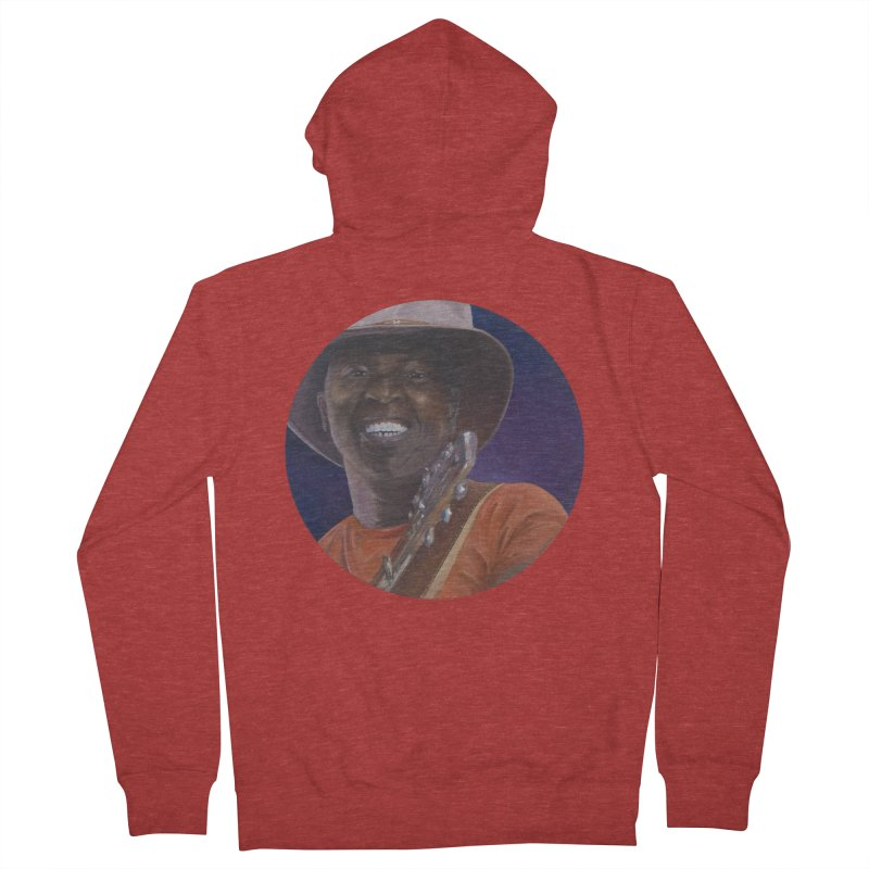 Ali Farka Toure Men's French Terry Zip-Up Hoody by mybadart's Artist Shop