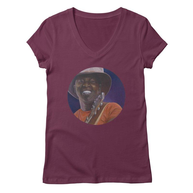 Ali Farka Toure Women's Regular V-Neck by mybadart's Artist Shop
