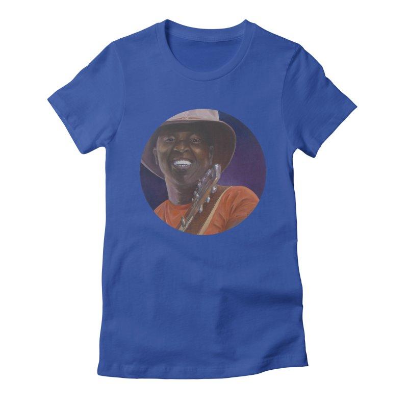 Ali Farka Toure Women's Fitted T-Shirt by mybadart's Artist Shop