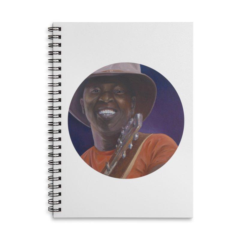 Ali Farka Toure Accessories Lined Spiral Notebook by mybadart's Artist Shop