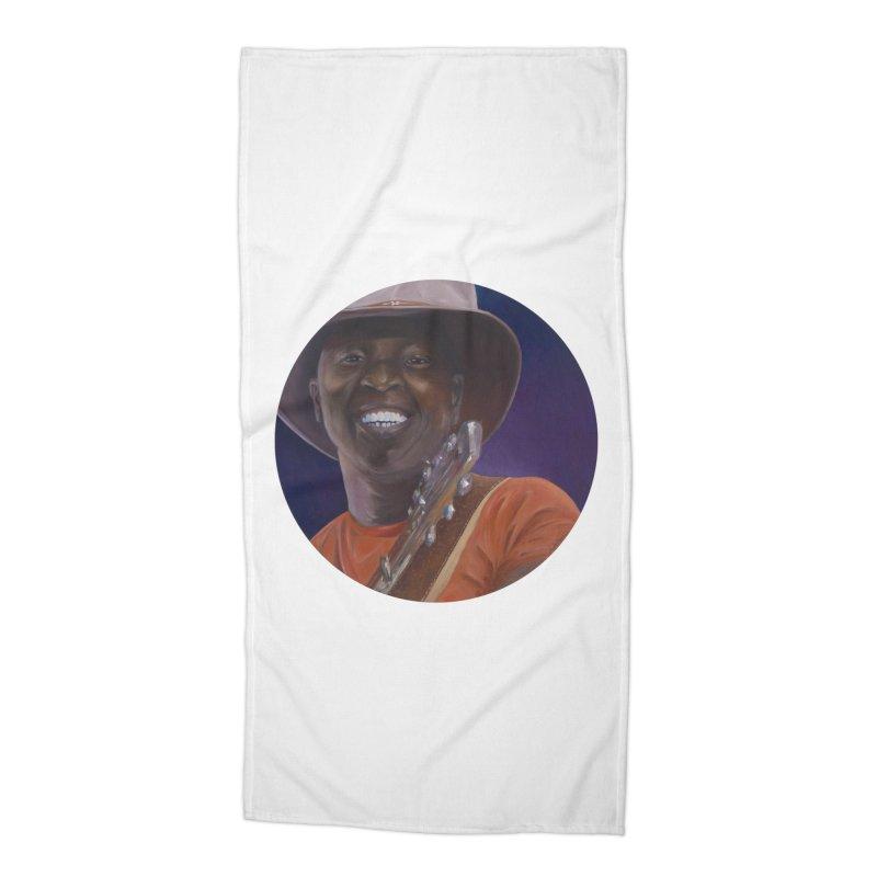 Ali Farka Toure Accessories Beach Towel by mybadart's Artist Shop