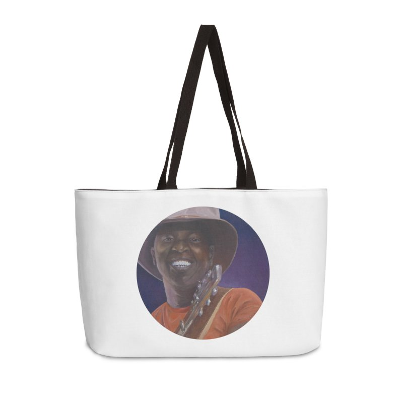 Ali Farka Toure Accessories Weekender Bag Bag by mybadart's Artist Shop