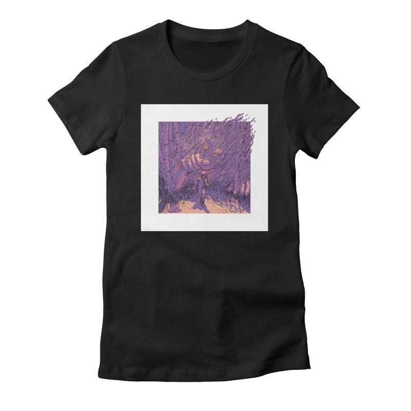 Afraid (Black) Women's Fitted T-Shirt by My Body Sings Electric Merch | Shop Men, Women, an