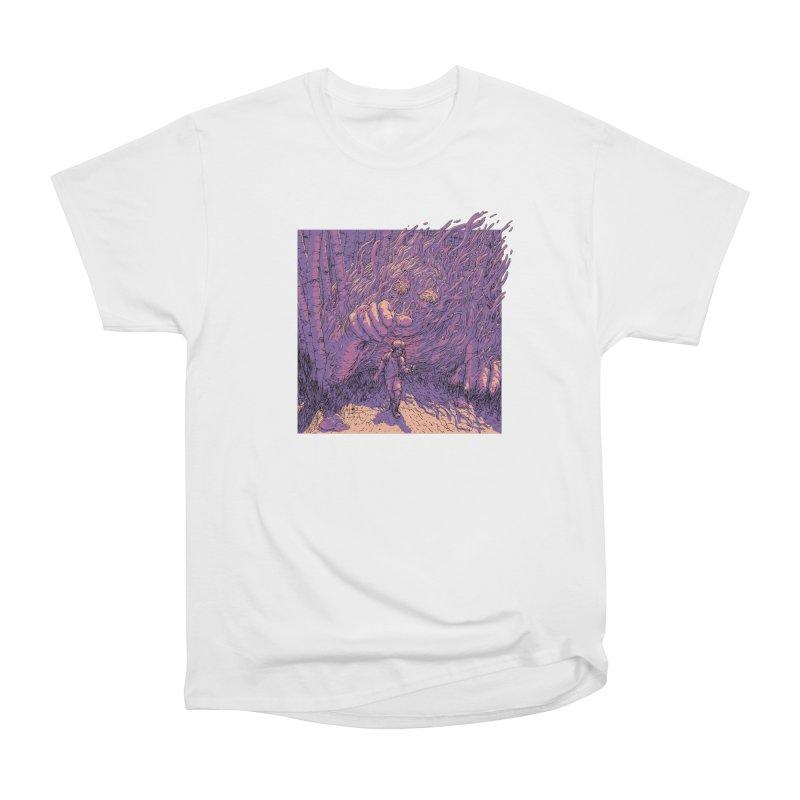 Afraid (White) Men's Heavyweight T-Shirt by My Body Sings Electric Merch | Shop Men, Women, an