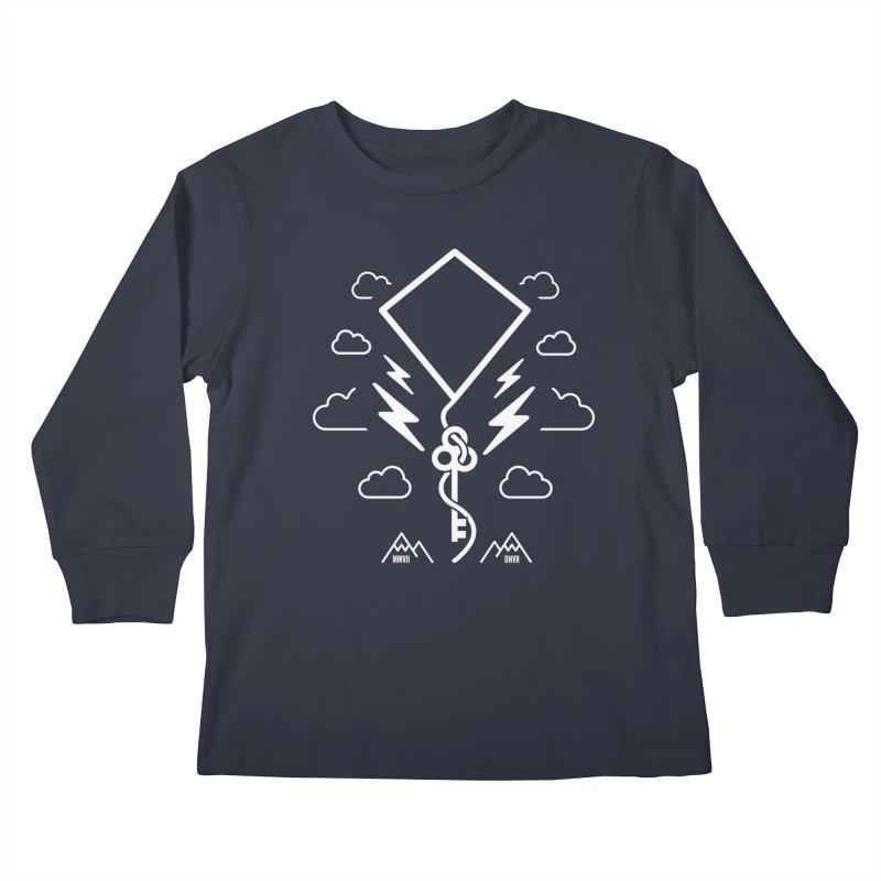 Mile High Flyer (White) Kids Longsleeve T-Shirt by My Body Sings Electric Merch   Shop Men, Women, an