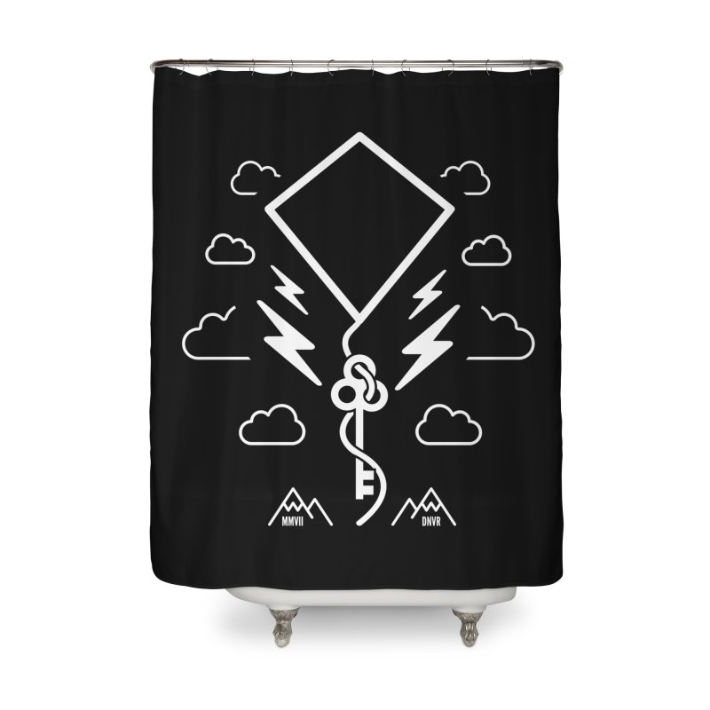 Mile High Flyer (White) Home Shower Curtain by My Body Sings Electric Merch | Shop Men, Women, an