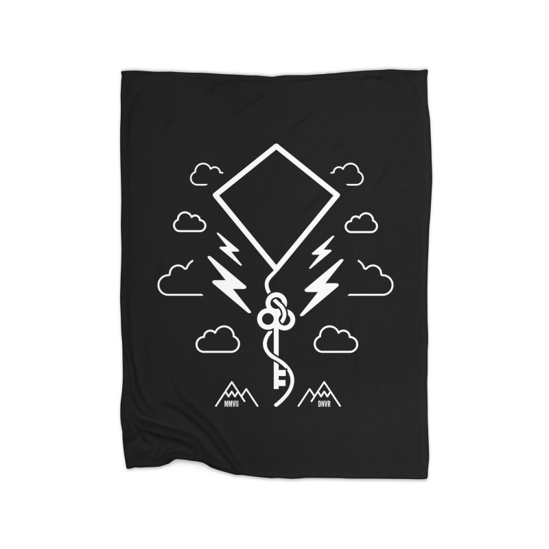 Mile High Flyer (White) Home Fleece Blanket Blanket by My Body Sings Electric Merch | Shop Men, Women, an