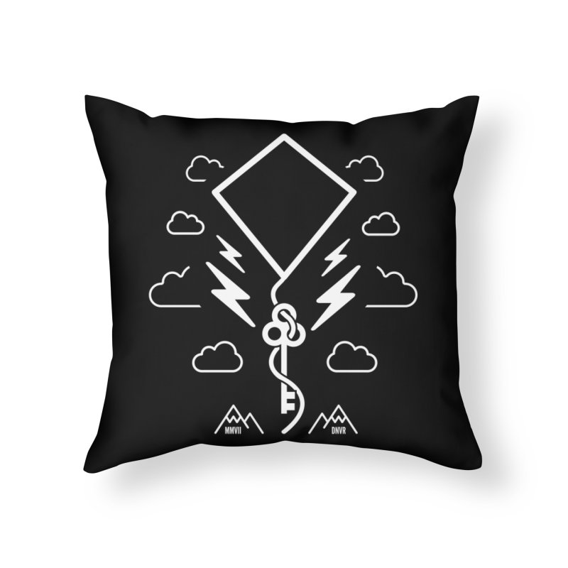 Mile High Flyer (White) Home Throw Pillow by My Body Sings Electric Merch | Shop Men, Women, an
