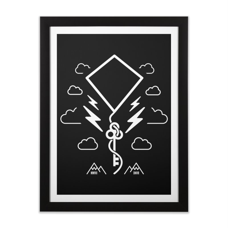 Mile High Flyer (White) Home Framed Fine Art Print by My Body Sings Electric Merch | Shop Men, Women, an