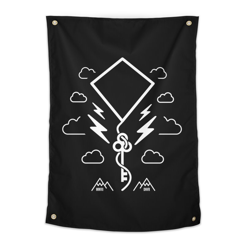 Mile High Flyer (White) Home Tapestry by My Body Sings Electric Merch | Shop Men, Women, an