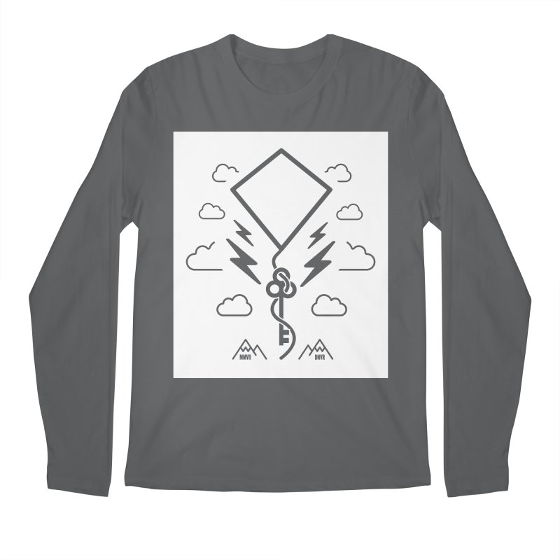 Mile High Flyer (Block) Men's Regular Longsleeve T-Shirt by My Body Sings Electric Merch | Shop Men, Women, an