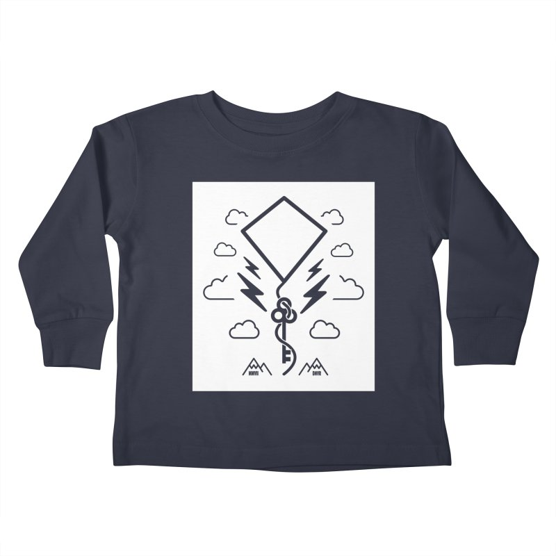 Mile High Flyer (Block) Kids Toddler Longsleeve T-Shirt by My Body Sings Electric Merch | Shop Men, Women, an