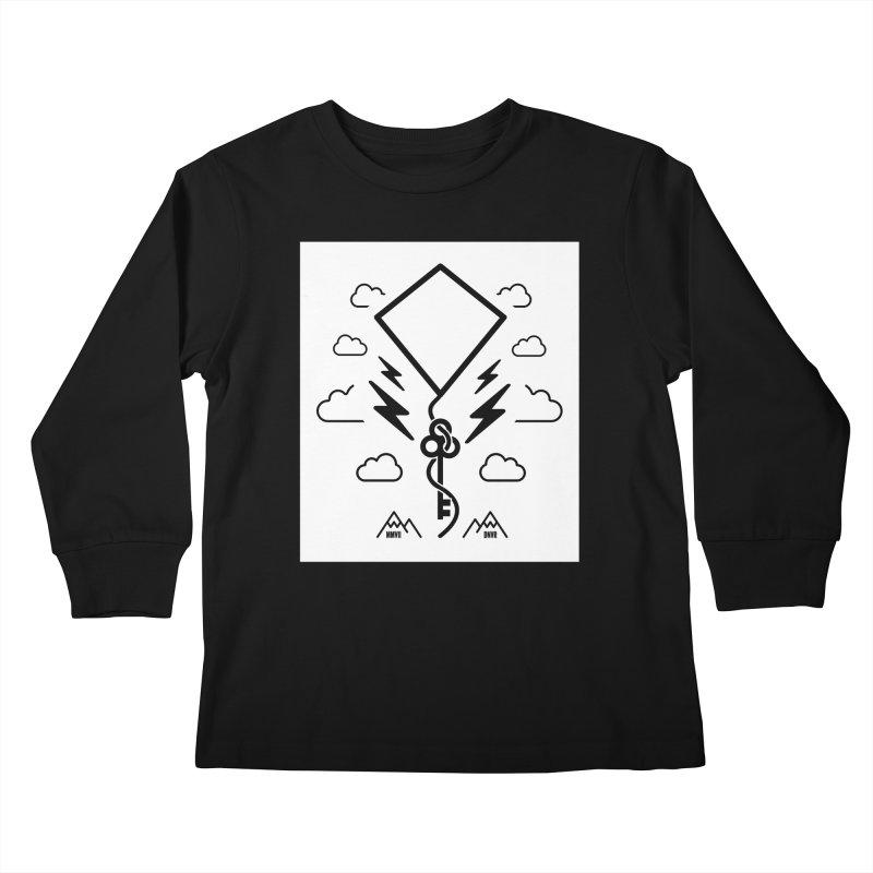 Mile High Flyer (Block) Kids Longsleeve T-Shirt by My Body Sings Electric Merch | Shop Men, Women, an
