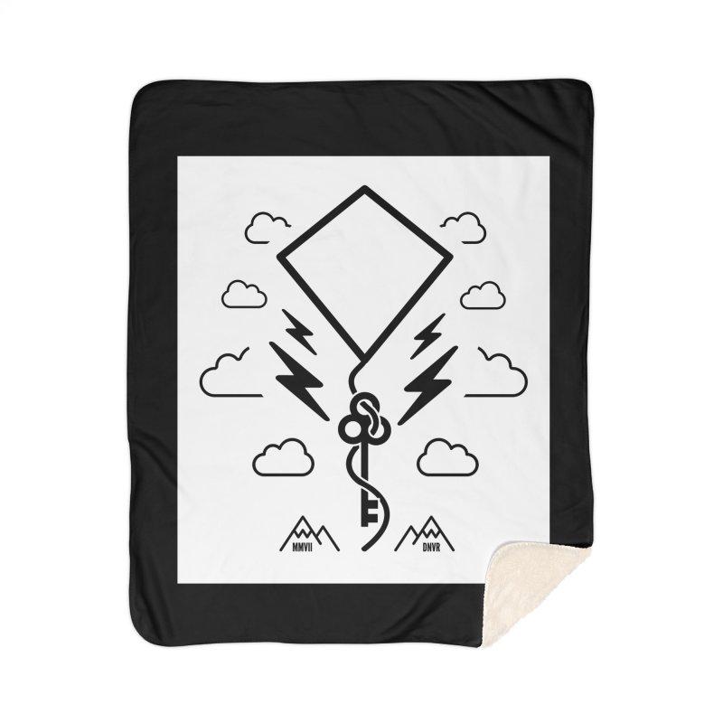 Mile High Flyer (Block) Home Sherpa Blanket Blanket by My Body Sings Electric Merch | Shop Men, Women, an