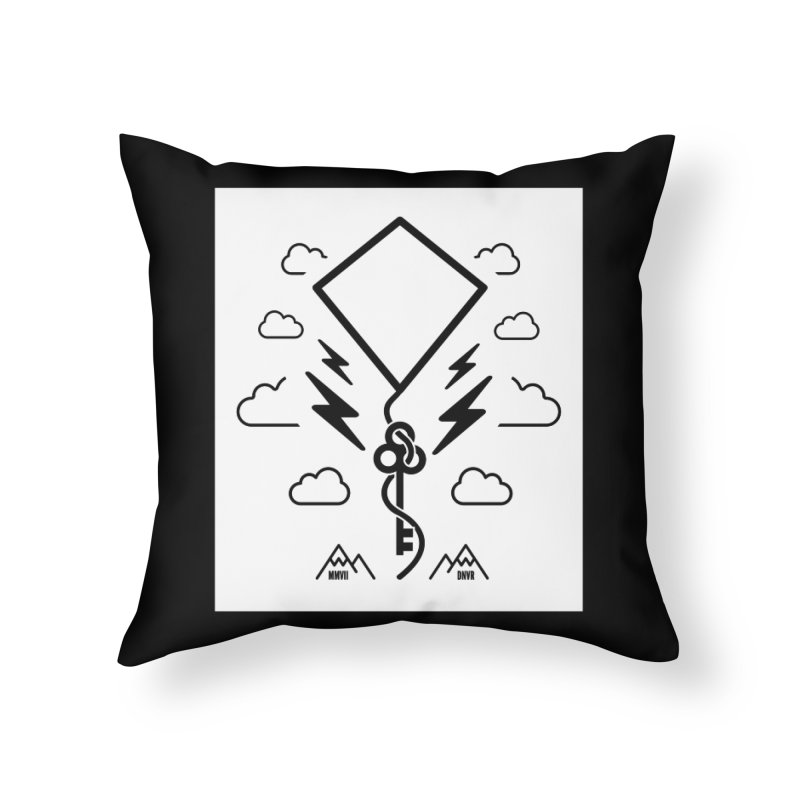 Mile High Flyer (Block) Home Throw Pillow by My Body Sings Electric Merch | Shop Men, Women, an