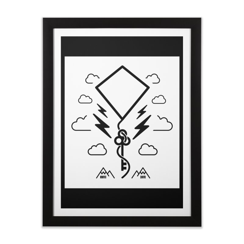 Mile High Flyer (Block) Home Framed Fine Art Print by My Body Sings Electric Merch | Shop Men, Women, an