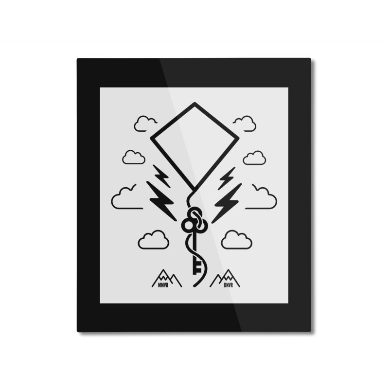 Mile High Flyer (Block) Home Mounted Aluminum Print by My Body Sings Electric Merch | Shop Men, Women, an