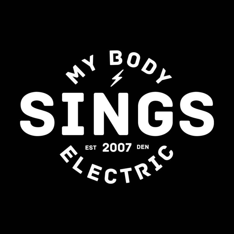 Bomber Logo (White) Men's Tank by My Body Sings Electric Merch | Shop Men, Women, an