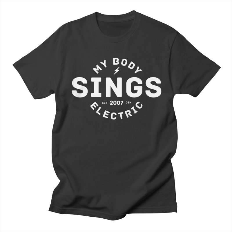 Bomber Logo (White) in Men's Regular T-Shirt Smoke by My Body Sings Electric Merch | Shop Men, Women, an