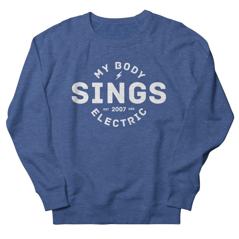 Bomber Logo (White) Women's Sweatshirt by My Body Sings Electric Merch | Shop Men, Women, an