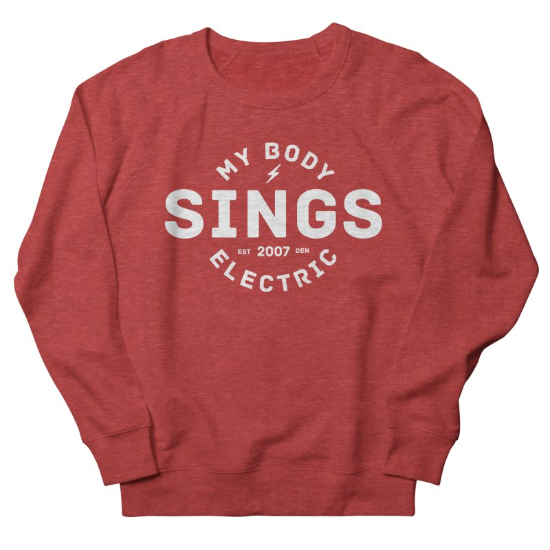 Bomber Logo (White) Women's French Terry Sweatshirt by My Body Sings Electric Merch | Shop Men, Women, an