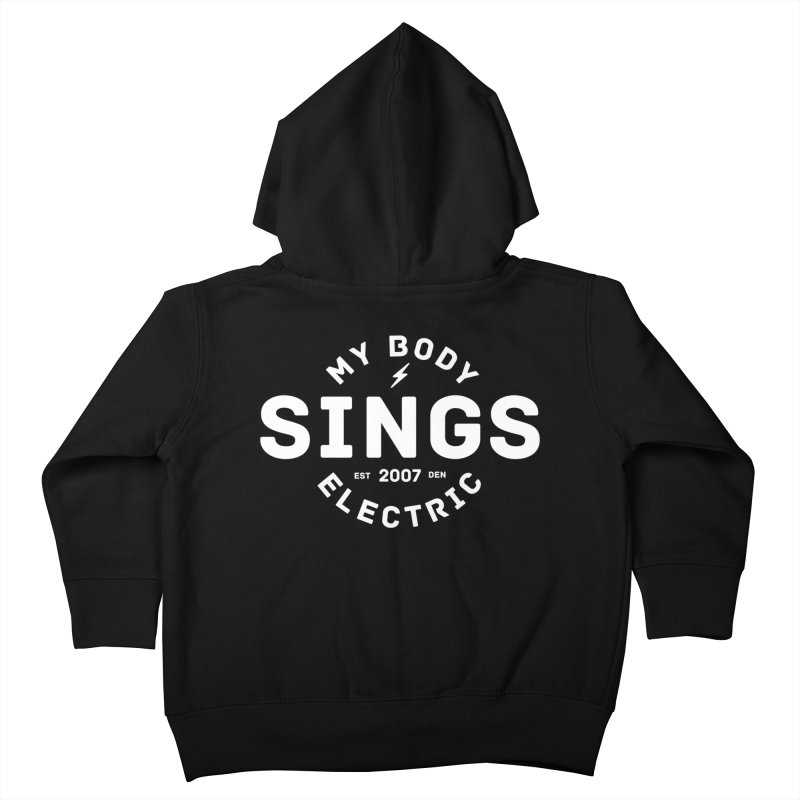 Bomber Logo (White) Kids Toddler Zip-Up Hoody by My Body Sings Electric Merch | Shop Men, Women, an