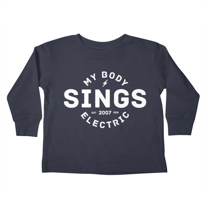 Bomber Logo (White) Kids Toddler Longsleeve T-Shirt by My Body Sings Electric Merch | Shop Men, Women, an