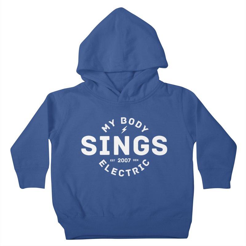Bomber Logo (White) Kids Toddler Pullover Hoody by My Body Sings Electric Merch | Shop Men, Women, an