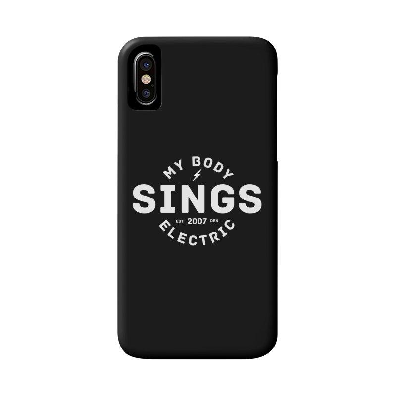 Bomber Logo (White) Accessories Phone Case by My Body Sings Electric Merch | Shop Men, Women, an