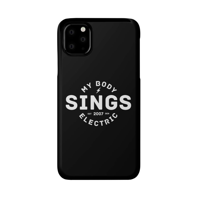 Bomber Logo (White) Accessories Phone Case by My Body Sings Electric Merch | Shop Men, Women, an