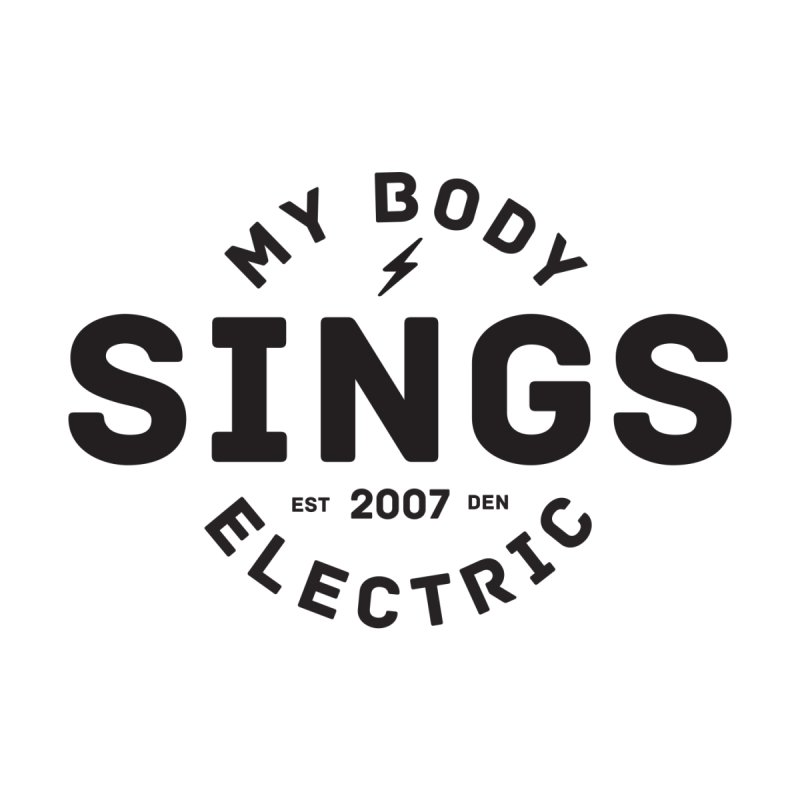 Bomber Logo (Black) Men's Longsleeve T-Shirt by My Body Sings Electric Merch | Shop Men, Women, an